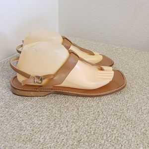 Coach Dora Tan Leather Sandals